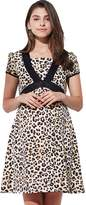 Sweet Mommy Maternity and Nursing Leopard Print Maternity dress BRL