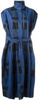 Sofie D'hoore belted gingham short sleeve shirt dress