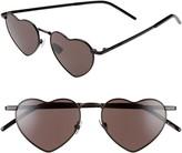 Saint Laurent Loulou 52mm Heart Shaped Sunglasses
