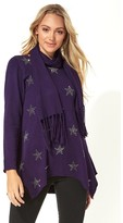 M&Co Roman Originals star print knitted tunic with tassel scarf