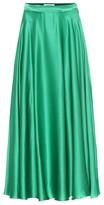 MSGM Silk-blend satin maxi skirt