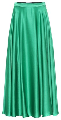 MSGM Silk-blend satin maxi skirt