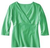 Merona Women's Double Layer 3/4 Sleeve V Neck Tee - Assorted Colors