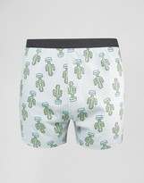 Asos Jersey Boxers With Cactus Print