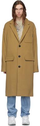 Alexander Wang Tan Brushed Wool Coat