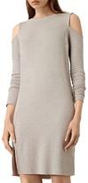 AllSaints Esther Cold Shoulder Sweater Dress