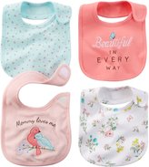 "Carter's Baby Girls' ""Mommy Bird"" 4-Pack Bibs"