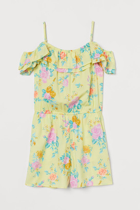 H&M Off-the-shoulder Romper - Yellow