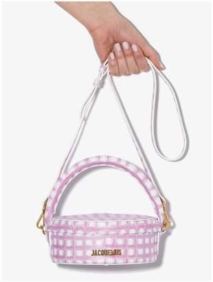Jacquemus pink La Boite a Gateaux leather box bag