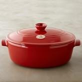 Emile Henry Ceramic Stovetop Oval Stew Pot, 6.3 Qt.