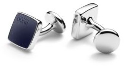 HUGO BOSS Square cufflinks with coloured enamel inserts