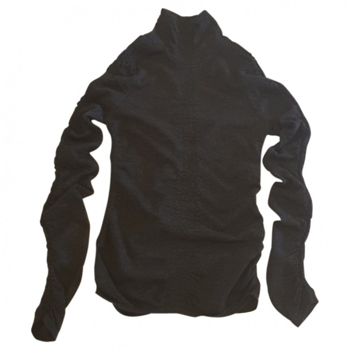 Versace Anthracite Wool Knitwear for Women