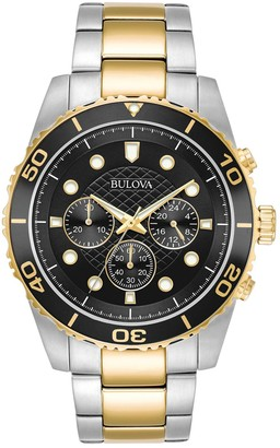 Bulova Sport Two-Tone Stainless Steel Chronograph Watch