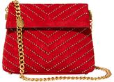 Karen Millen Leather Stud Mini Regent Shoulder Bag, Red
