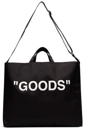 Off-White slogan print tote bag