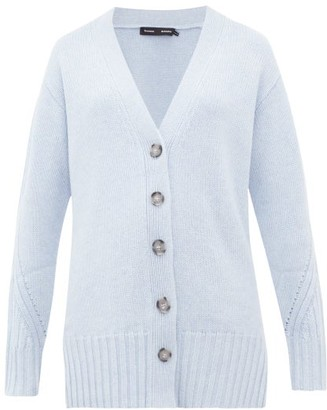Proenza Schouler V Neck Cashmere Cardigan - Womens - Mid Blue
