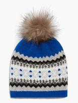 Talbots Bluesy Fair Isle Hat