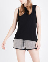 KENDALL + KYLIE KENDALL & KYLIE Asymmetric stretch-cotton top