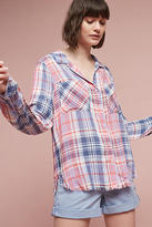 Cloth & Stone Frayed Plaid Buttondown
