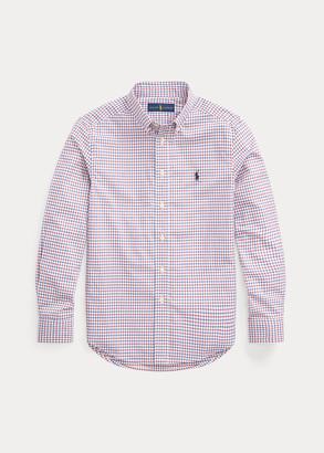Ralph Lauren Tattersall Cotton Poplin Shirt
