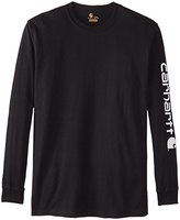 Carhartt Men's Big & Tall Signature-Sleeve Logo Long-Sleeve T-Shirt K231