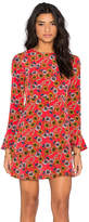 WAYF Tie Back Dress in Red. - size XS (also in )