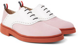 Thom Browne Two-Tone Nubuck and Leather Oxford Shoes