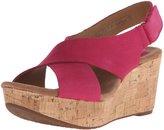 Clarks Caslynn Shae Women's Leather Platform Wedges Shoes (08, )