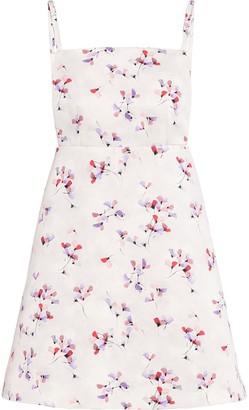 Prada Floral-Print Square-Neck Dress
