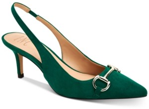 INC International Concepts Inc Carynn Pointed-Toe Kitten Heels, Created for Macy's Women's Shoes