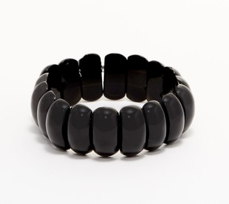 Carved Gemstone Stretch Bracelet