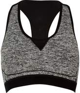 River Island Womens RI Active grey marl sports bra