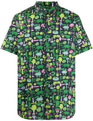 Lacoste x Jeremyville all-over print shirt