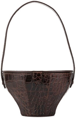 STAUD croc-embossed 'Alice' bag