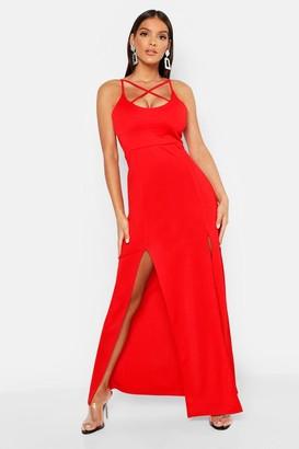 boohoo Strappy Plunge Maxi Dress