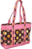 Hadaki Free Spirit Leather/Coated Print Tote