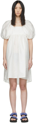Cecilie Bahnsen White Silk Ragnhild Dress