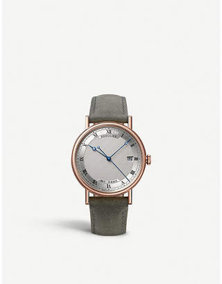 Breguet 5177BR/15/9V6 Classique 18ct rose-gold and alligator-leather watch