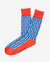 Express houndstooth print dress socks