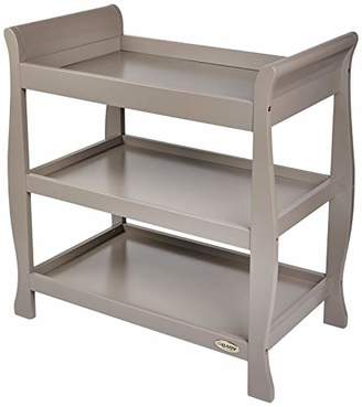 O Baby Obaby Stamford Sleigh Open Changing Unit - Taupe Grey