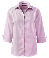 Classic Women's Plus Size 3/4 Sleeve No Iron Pattern Broadcloth Shirt-True Blue Multi Stripe