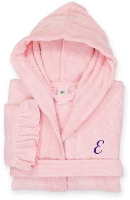 Linum Home Textiles Turkish Cotton Kids Personalized Hooded Bathrobe