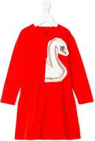 Stella McCartney Zelma swan print dress - kids - Cotton - 2 yrs