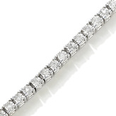 Zales 3/4 CT. T.W. Diamond Tennis Bracelet in Sterling Silver