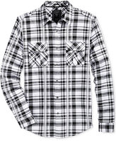 GUESS Men's Layne Plaid Military Shirt