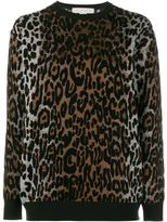 Stella McCartney cheetah jacquard jumper - women - Polyamide/Viscose/Wool/viscose - 40