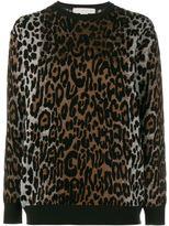 Stella McCartney cheetah jacquard jumper - women - Viscose/Wool/Polyamide/viscose - 40