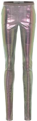 Rick Owens Easy Nagakin metallic denim leggings