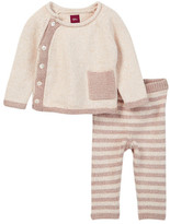 Tea Collection Cerro Bonete Taupe Sweater Outfit (Baby Girls)