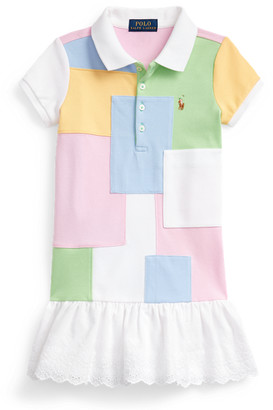 Ralph Lauren Patchwork Mesh Polo Dress